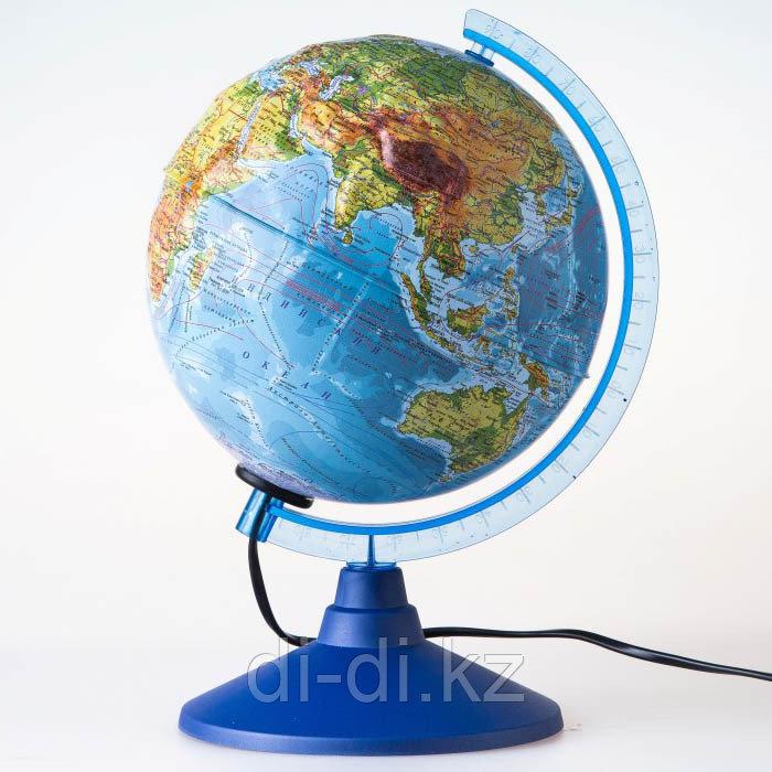 GLOBEN Глобус Земли физико-политический рельефный с подсветкой, D-250 мм Ке022500195