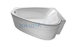 Акриловая ванна Лав 185х135 (Правая) (Полный комплект) Ассиметричная. Угловая, фото 2
