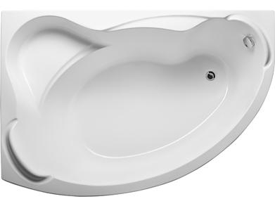 Акриловая ванна Катанья 160*100 (Левая) (Полный комплект) Ассиметричная. Угловая