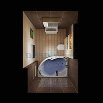 Акриловая ванна Диана  (170*100)(Левая) (Полный комплект) Ассиметричная. Угловая, фото 3