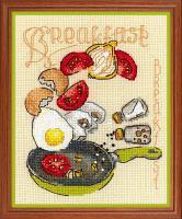 """Набор для вышивания крестом """"Завтрак, фото 1"""