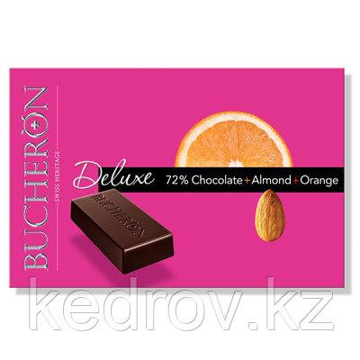 """""""BUCHERON DELUXE"""" горький шоколад с миндалем и апельсином в картоне, 95 гр"""