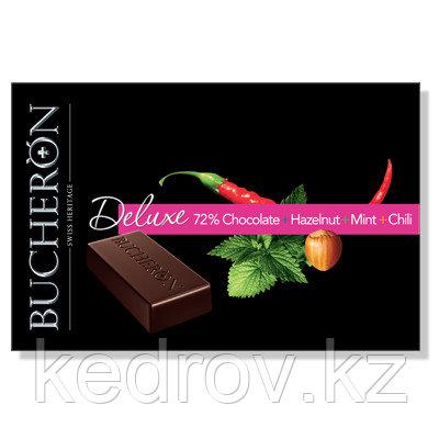 """BUCHERON DELUXE"" горький шоколад с фундуком,мятой и кайенским перцем в картоне, 95 гр"