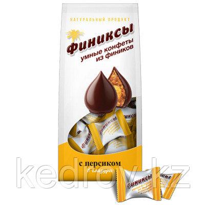 """""""ФИНИКСЫ"""" С персиком в шоколадной глазури, конфеты 180 гр., дой-пак"""