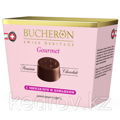"""""""BUCHERON GOURMET"""" Шоколадные конфеты с миндалем и коньяком 175 гр."""