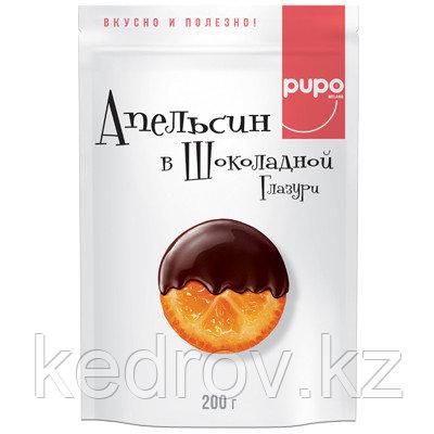 """""""PUPO"""" Апельсин в глазури, конфеты, фортунелла (кумкват), 200 гр., дой-пак"""