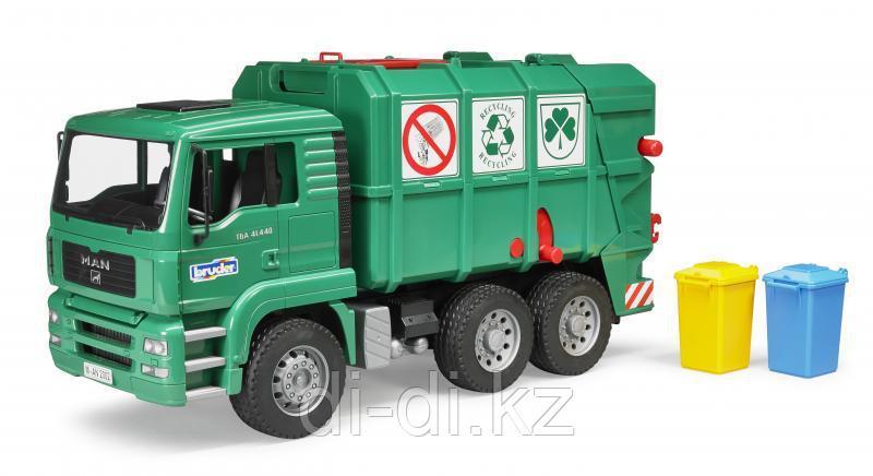 Игровой мусоровоз зеленый MAN TGA 1:16