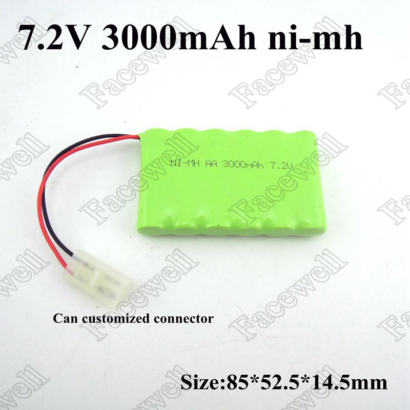 Аккумулятор 7,2v  (6AAx1,2v) 3000mAh  для кассовых аппаратов