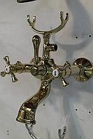 Смеситель на ванну ретро золото, фото 1