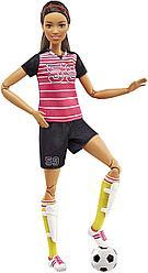 """Barbie """"Безграничные движения"""" Кукла Барби Брюнетка - Футболистка"""