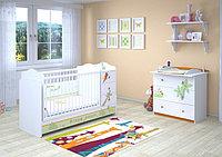 Кровать-трансформер детская POLINI Basic Джунгли с комодом 170х60см