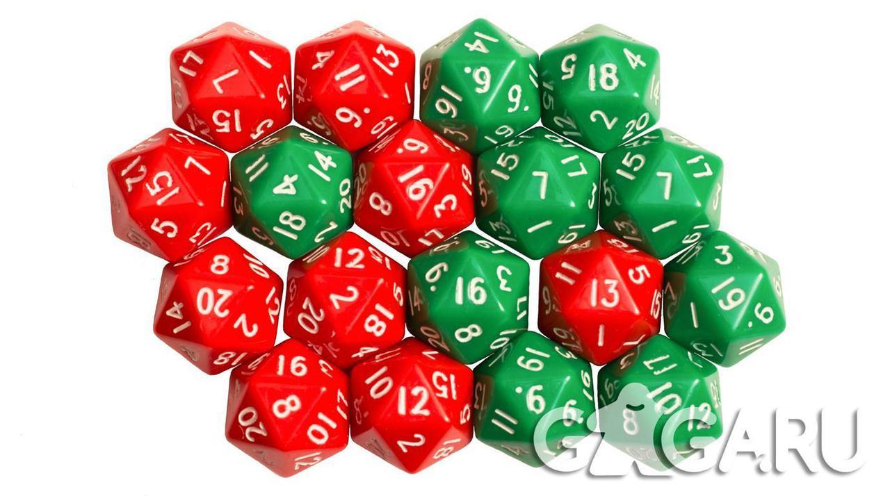 Кубик GaGa D20, красный
