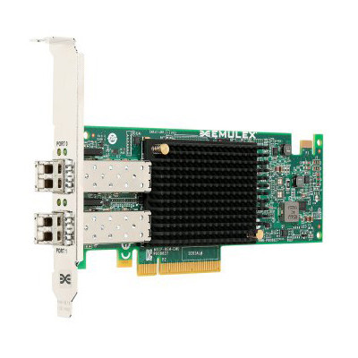 LENOVO 03T8598 OCE14102-UX PCIE 10GB 2 PORT SFP+ CONVERGED NETWORK ADAPTER BY EMULEX FOR THINKSERVER WITH HIGH PROFILE.