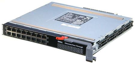 DELL JC378 POWEREDGE M1000E 16-PORT ETHERNET PASS THROUGH MODULE.