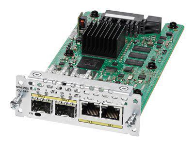 CISCO NIM-2GE-CU-SFP WAN NETWORK INTERFACE MODULE - EXPANSION MODULE - COMBO GIGABIT SFP X 2 - FOR CISCO 4451-X. NEW FACTORY SEALED.