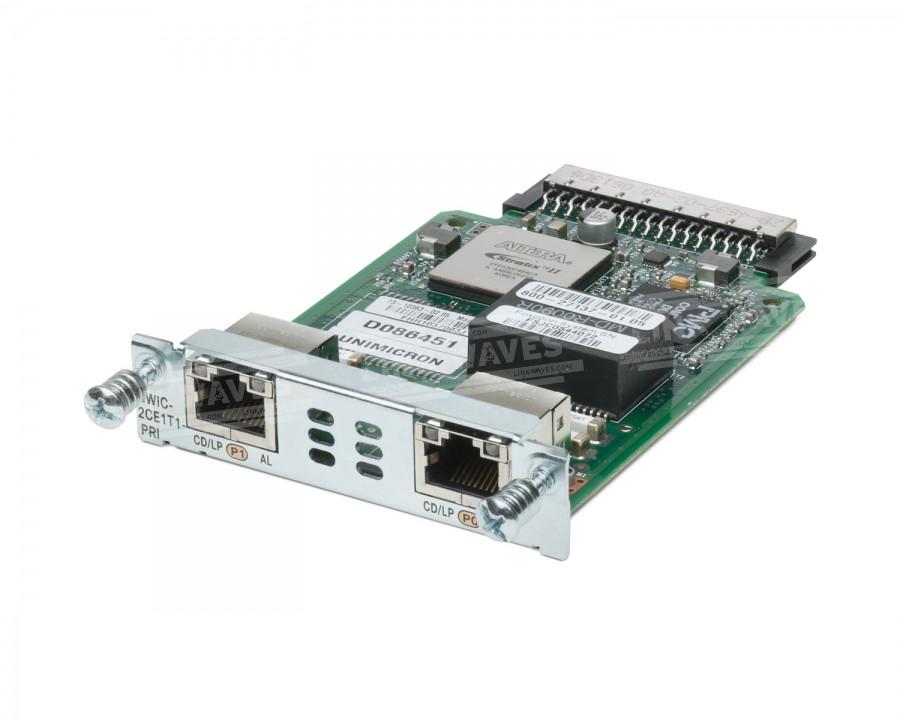 CISCO HWIC-2CE1T1-PRI HIGH-SPEED CHANNELIZED T1/E1 AND ISDN PRI - ISDN TERMINAL ADAPTER - PRI.