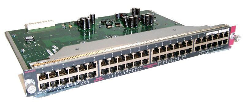 CISCO WS-X4548-RJ45V+ CATALYST 48-PORT GIGABIT ETHERNET LINE CARD WITH POE+.