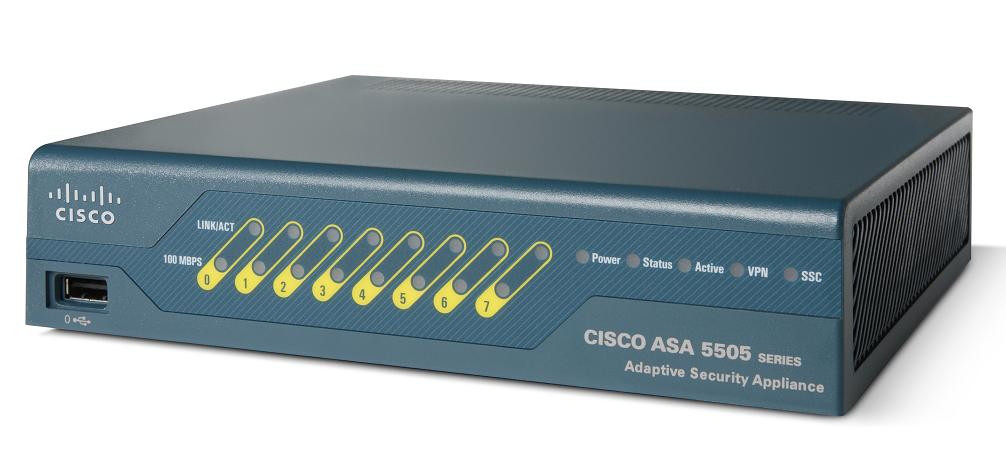 CISCO - ASA 5505 FIREWALL EDITION BUNDLE - ASA 5505 APPLIANCE WITH SW - UL USERS - 8 PORTS - 3DES/AES WITHOUT P/S (ASA5505-UL-BUN-K9).