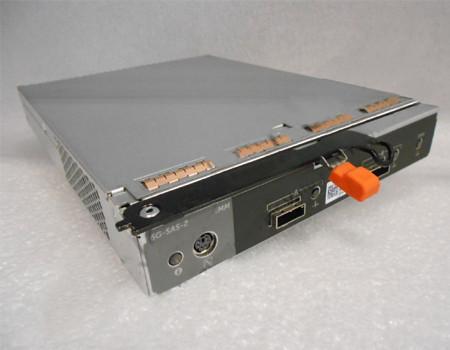 DELL 1JND1 6G-SAS-2 EMM ENCLOSURE MANAGEMENT MODULE FOR STORAGE CENTER SC100, TWO EXTERNAL MINI SAS SFF-8088 CONNECTIONS.