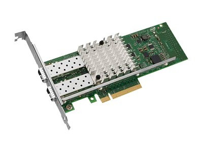 DELL VFVGR DUAL PORT X520-DA2 10-GB SERVER ADAPTER ETHERNET PCIE NETWORK INTERFACE CARD WITH BOTH BRACKETS. BRAND NEW.DELL VFVGR DUAL PORT X520-DA2