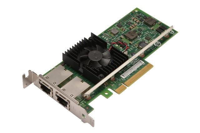 DELL 540-BBHD INTEL X540-T2 DUAL-PORT 10GB 10GBASE-T PCI-E WITH BOTH BRACKETS.