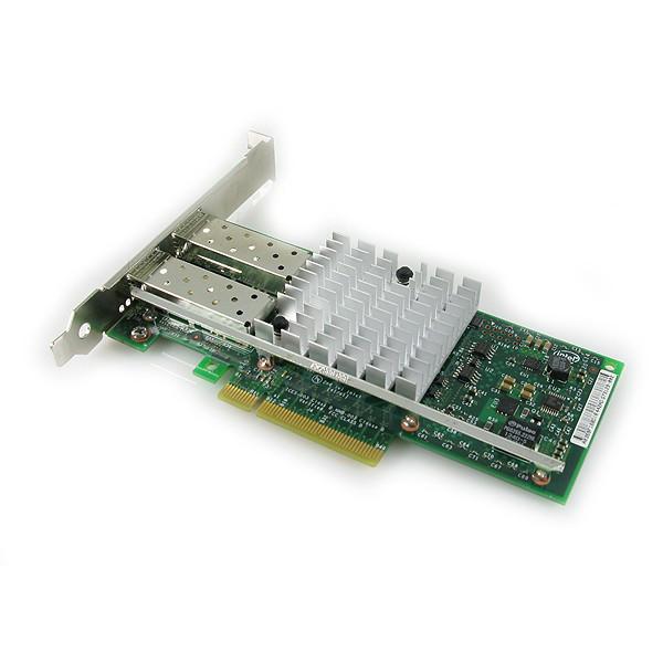 DELL 540-BBLF INTEL X520 DUAL PORT 10GB DA/SFP+ SERVER ADAPTER WITH BOTH BRACKETS. BRAND NEW.
