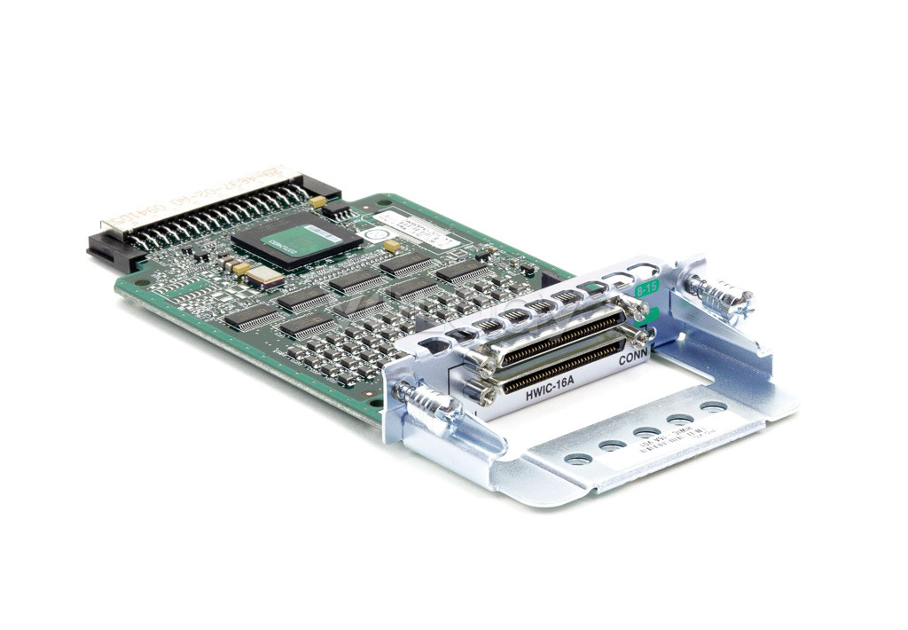 CISCO HWIC-16A HIGH SPEED WAN INTERFACE CARD SERIAL ADAPTER - RS-232 16 PORTS.