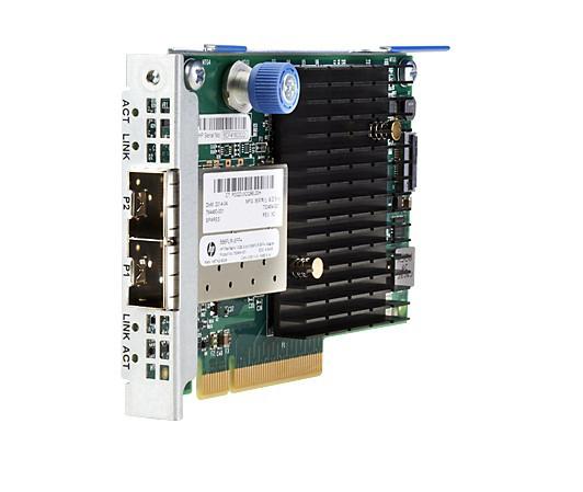 HP 732455-B21 FLEXFABRIC 10GB 2-PORT 556FLR-SFP+ ADAPTER - PCI EXPRESS V3.0(GEN 3) X8 - OPTICAL FIBER. NEW SEALED SPARE.