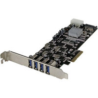 STARTECH - 4 PORT PCI EXPRESS (PCIE) SUPERSPEED USB 3.0 CARD ADAPTER W/ 4 DEDICATED 5GBPS CHANNELS - UASP - SATA/LP4 POWER - PCI EXPRESS X4 - PLUG-IN