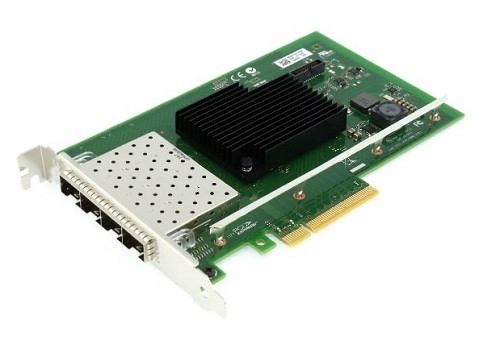 DELL 540-BBVP INTEL X710 QUAD PORT 10GB BASE-T SERVER ADAPTER ETHERNET PCIE NETWORK INTERFACE CARD. BRAND NEW.
