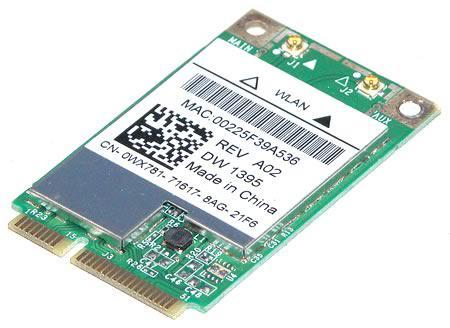 DELL - WIRELESS 1395 802.11G INTERNAL CARD NETWORK ADAPTER - PCI EXPRESS MINI CARD (WX781).