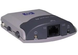 HP J6042A JETDIRECT 250M INTERNET CONNECTOR 10/ 100T ETHERNET EXTERNAL PRINT SERVER.