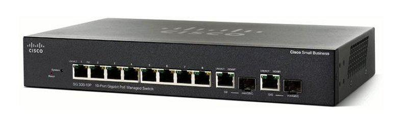 CISCO SG250-10P-K9 SMALL BUSINESS SG250-10P MANAGED SWITCH - 8 POE+ ETHERNET PORTS & 2 COMBO GIGABIT SFP PORTS. NEW FACTORY SEALED.