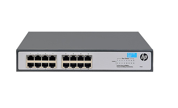 HP JH016-61001 1420-16G - SWITCH - 16 PORTS - UNMANAGED - DESKTOP, RACK-MOUNTABLE. NEW FACTORY SEALED.