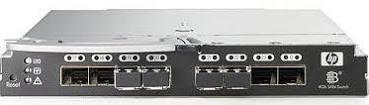 HP 411121-001 BROCADE BLADESYSTEM 4/24 SAN SWITCH W/ 4 GBICS.