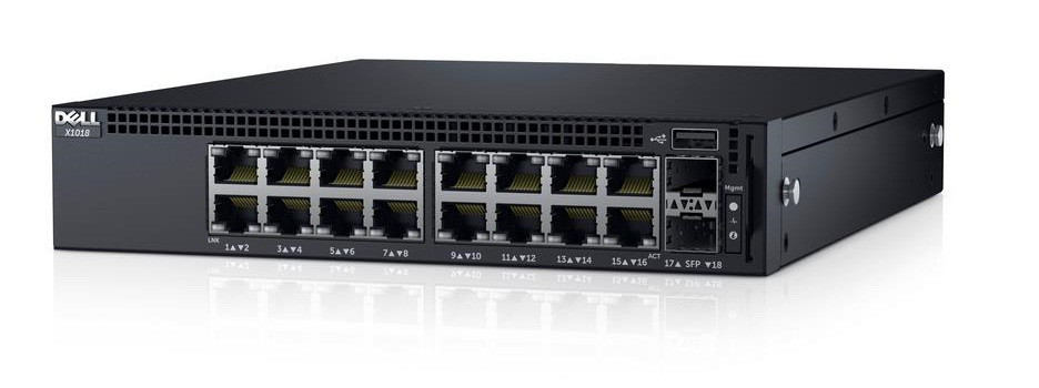 DELL 210-AEIK NETWORKING X1018 - SWITCH - 16 PORTS - MANAGED - RACK-MOUNTABLE.