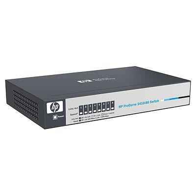 HP J9559-61001 PROCURVE 1410-8G ETHERNET SWITCH - 8 PORT.