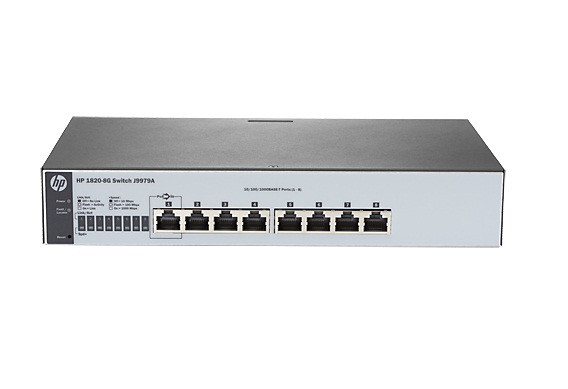 HP J9979A 1820-8G - SWITCH - 8 PORTS - MANAGED - DESKTOP, RACK-MOUNTABLE, WALL-MOUNTABLE. NEW RETAIL FACTORY SEALED WITH LIMITED LIFETIME MANUFACTURER
