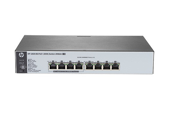 HP J9982-61001 1820-8G - SWITCH - 8 PORTS - MANAGED - DESKTOP, RACK-MOUNTABLE, WALL-MOUNTABLE. NEW FACTORY SEALED.