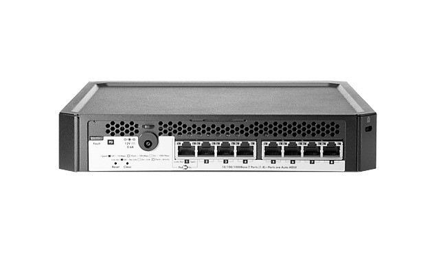 HP J9833-61001 PS1810-8G 8PORT MANAGEABLE ETHERNET SWITCH. NEW FACTORY SEALED.