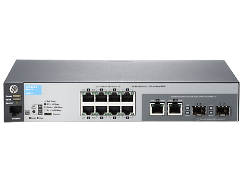 HP J9783A 2530-8 SWITCH - SWITCH - MANAGED - 8 X 10/100 + 2 X COMBO GIGABIT SFP - DESKTOP, RACK-MOUNTABLE, WALL-MOUNTABLE. NEW FACTORY SEALED.