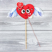 Сердце-дергунчик на палочке 'Держи моё сердечко' (комплект из 2 шт.)