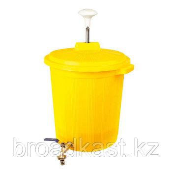 Бак с прессом для дезинфекции  35 литров