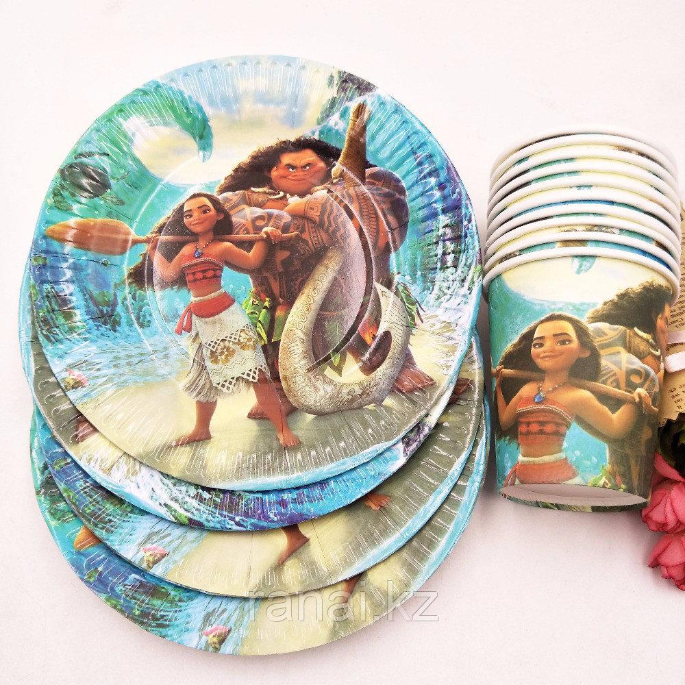 """Набор бумажной посуды """"День Рождения! тарелки Моана"""