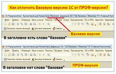 Как отличить ПРОФ-версию 1С-Бухгалтерии от Базовой версии?