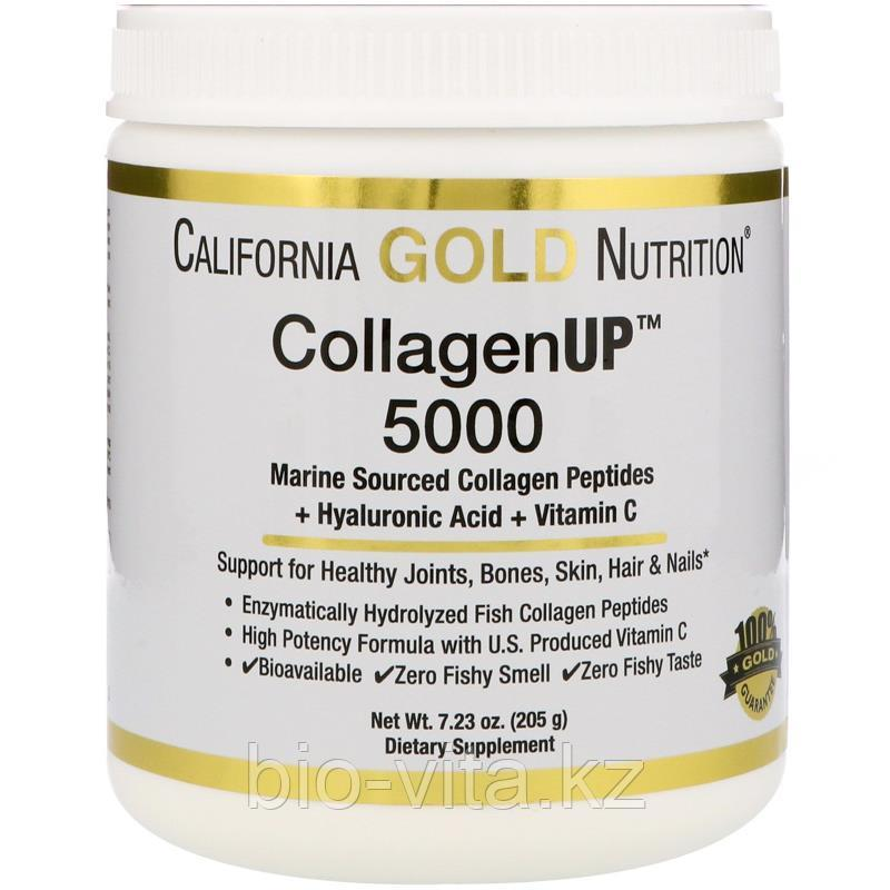 California Gold Nutrition КОЛЛАГЕН (рыбный) 5000 мг.+Витамин С+Гиалуроновая кислота - 40 порций на 40 дней.