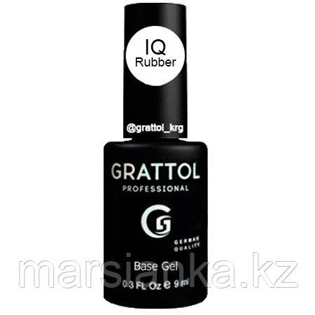IQ Rubber base Grattol (каучуковая, гипоаллергенная база), 9мл