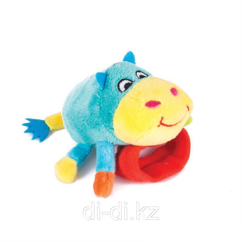 "Happy Snail Игрушка-погремушка на ручку ""Бегемот Бубба"""