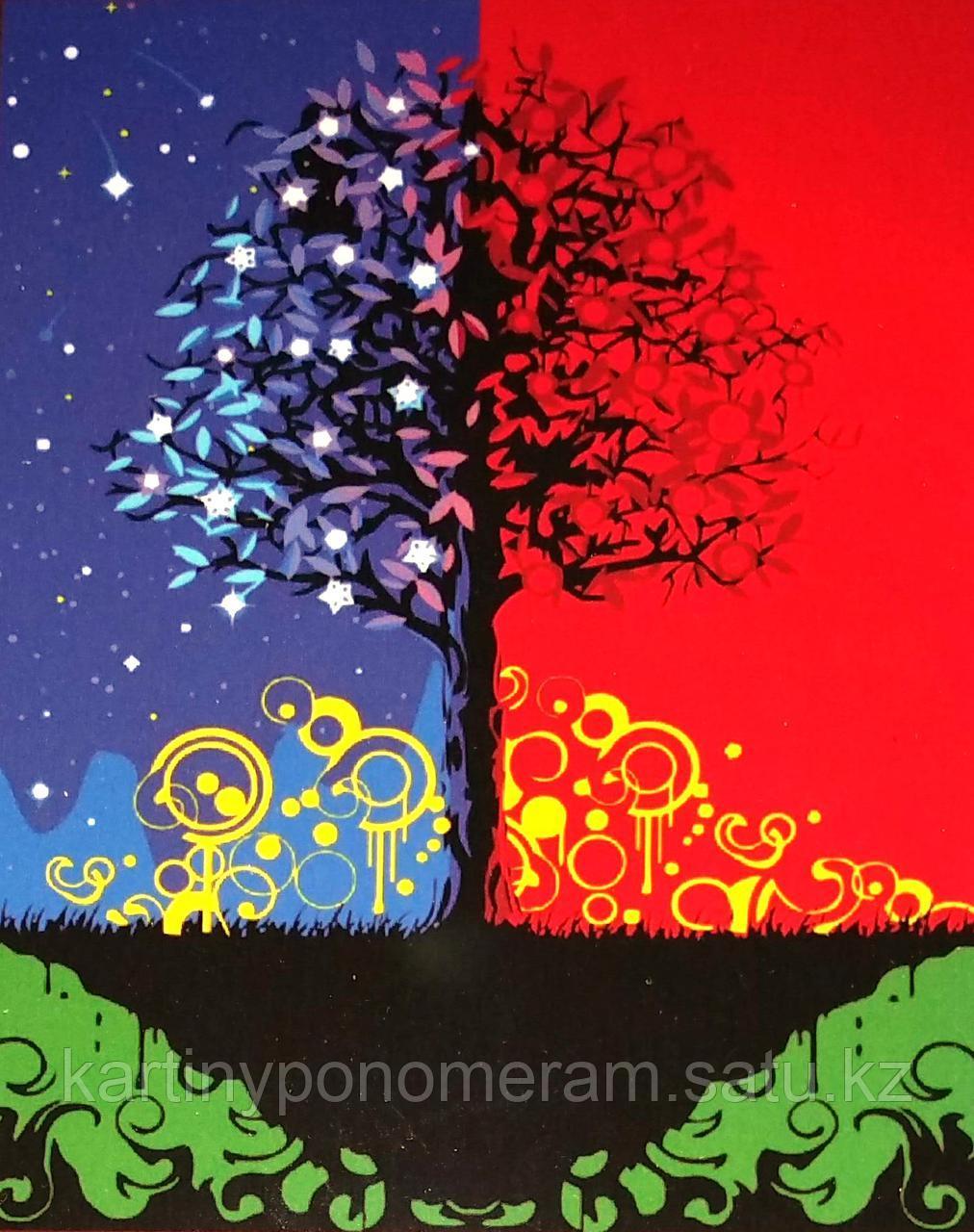 """Картина по номерам """"Дерево счастья 2"""""""