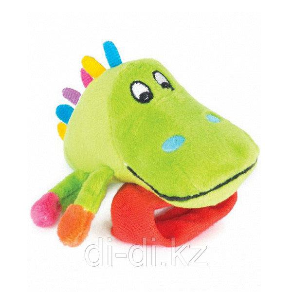 """Игрушка Happy Snail погремушка на ручку """"Крокодил Кроко"""""""